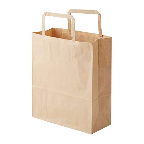 ヘイコー 手提 紙袋 平手紐 H25CB 20-1 未晒 クラフト 20x9x24cm 50枚