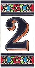 TORO DEL ORO huisnummers, cijfers en letters op tegels, geëmailleerd, technisch handwerk, droogtouw, naam en adressen, des...