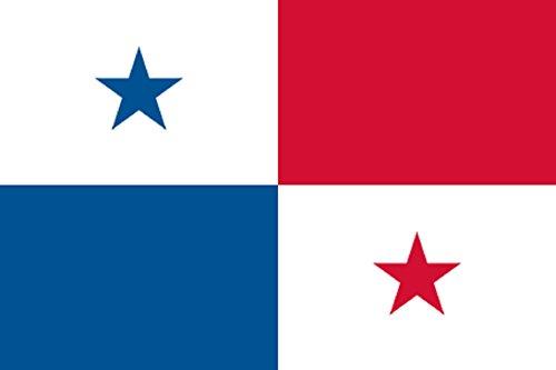 Gran Bandera de Panama 150 x 90 cm Satén Durobol Flag Satén