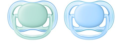 Philips Avent ultra air Schnuller 0-6 Monate SCF244/20, Doppelpack, Jungen, blau/grün