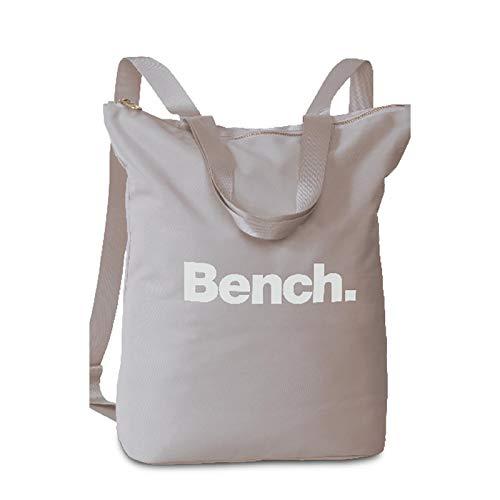 Bench Damen Handtaschen Rucksack Frauen Daypack Backpack 64160, Farbe:Hellgrau