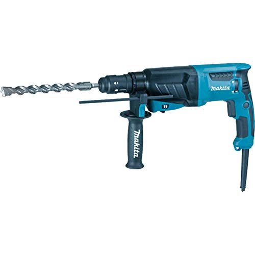 Makita HR2630T 240 V SDS Plus 3-Mode Rotary Hammer Drill with Quick Change Chuck in a Carry Case