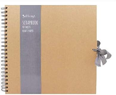 Tallon Scrapbooking carr/é en papier kraft avec ruban Marron Taille S//M//L Set of 3 Size