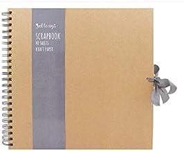 Tallon Kraft Small/Medium/Large Square Scrapbook- Quality Brown Kraft Paper Scrapbook with Ribbon (Large 30cm x 30 cm - 40 Sheets)
