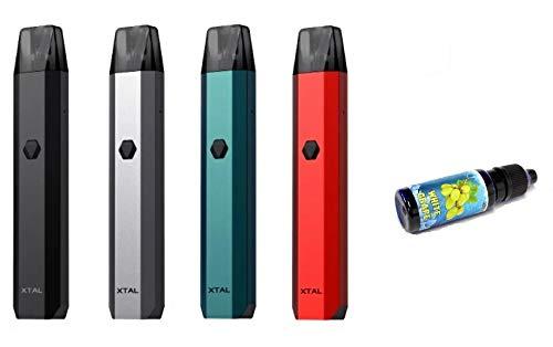 氷結リキッド15mL付き ZQ Xtal Pod System 520mAh/ゼットキュー/クリスタル/エクスタル/スターターキット ベイプ 電子タバコ vape 宅配便 [M-14] (レッド)