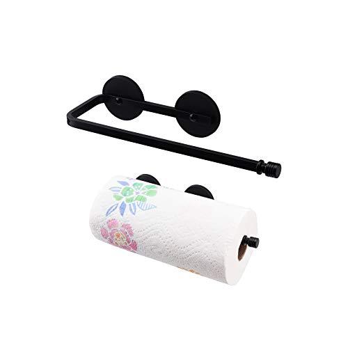 LEVOSHUA Magnetic Paper Towel Holder Paper Towel Rack Tower Bar for Refrigerator, Metal Cabinet Black