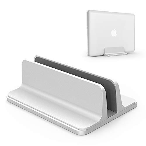 ノートパソコン スタンド 縦置き 収納 ホルダー幅調節可能 アルミ合金素材 OBENRI Vertical Laptop Stand Designed for MacBook Pro Air Mini Clamshell Mode & All Notepc