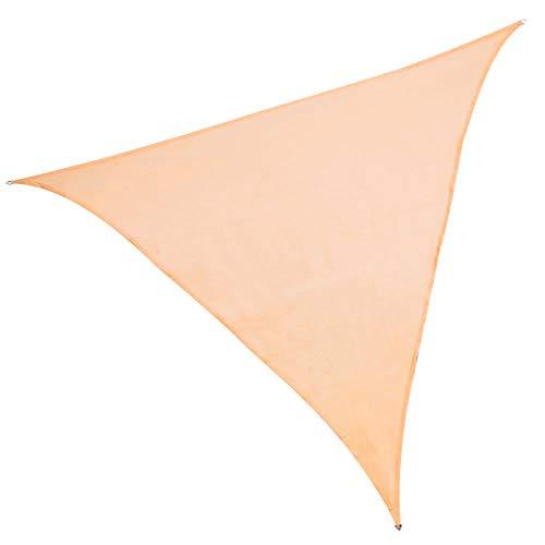 Toldo Vela Triangular Beige Polietileno de 5 Metros - LOLAhome