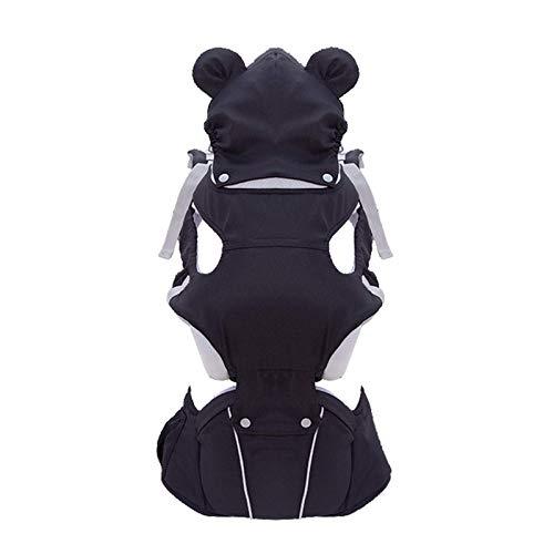 TYUXINSD Praktiziert Baby-Trägergürtel Kleinkind Kinderfänger Set Carriers Cartoon Bär Taille Hocker Sling Front Querwarmed Multifunktionaler Träger, Rosa (Color : Black)