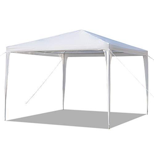 LPAYOK Carpa de 3 x 6 m, para exteriores, para camping, fiesta, boda, resistente al agua, para barbacoa, parque, patio, jardín, playa, estacionamiento, color blanco