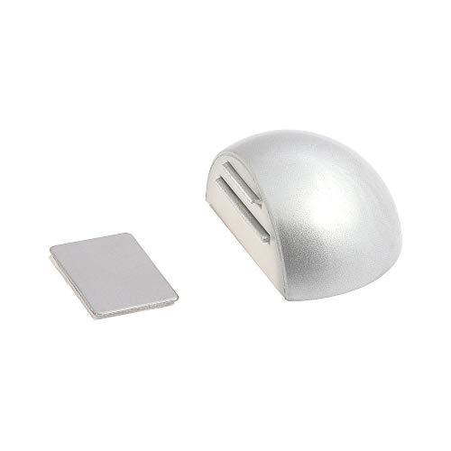 WOLFPACK 5320340 – Fermaporta con Adesivo e Magnete, Colore: Cromo Opaco