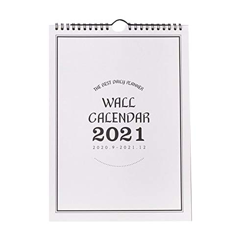 Desk Calendar, Standing Monthly Calendar Flip Type Full Year 2020-2021 Home Planner Wall Calendar Free-Standing Desktop Calendar for School Year Family Planner (Vertical section)