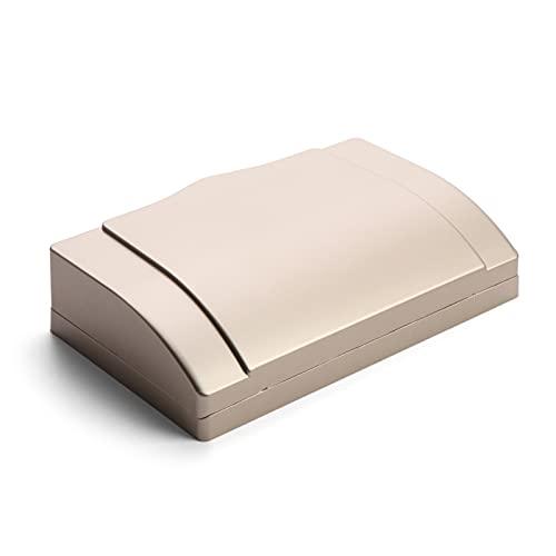 Panel de caja impermeable con enchufe de pared, 1 unids 86TYPE Doble Socket Protector Outlet de enchufe de enchufe eléctrico, seguridad infantil Caja de salpicaduras impermeables Suministros de baño