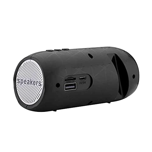 Altavoces portátiles Bluetooth Portátil Inalámbrico Bluetooth Altavoz Estéreo Barra de altavoz Subwoofer Computadora TF FM Radio Indoor Alto altavoz (Color: Negro) mei (Color : Black)
