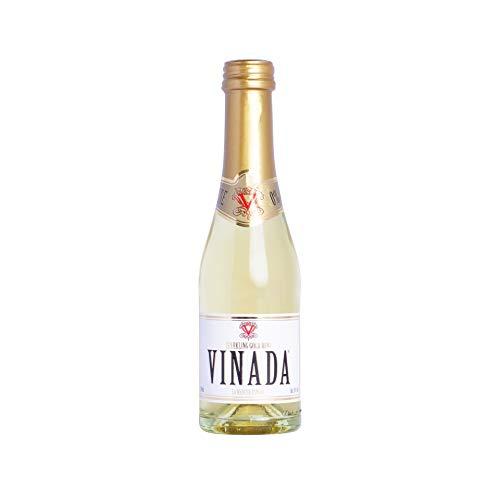 VINADA Sparkling Gold alkoholfreier Wein – 6x 200ml - prickelnder Schaumwein mit 0% Alkohol, Premium Sekt alkoholfrei mit Trauben aus Spanien, Frizzante Perlwein als alkoholfreies Getränk