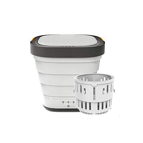 SLTZ Pieghevole Piccola Lavatrice con centrifuga Basket, Automatico Portatile Mini Camping Rondella per per i Viaggi, Viaggi d Affari, dormitori, Appartamenti,Bianca