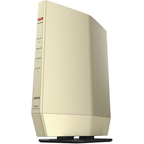 バッファロー WiFi ルーター無線LAN 最新規格 Wi-Fi6 11ax / 11ac AX5400 4803 574Mbps 日本メーカー 【iPhone12/11/iPhone SE(第二世代)/PS5 メーカー動作確認済み】WSR-5400AX6/NCG