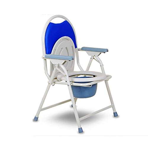 WYX Toilettenstuhl Tragbarer Klapp-Toilettenstuhl Für Ältere Menschen Duschstuhl Hocker Sitzstuhl Mit Armlehne