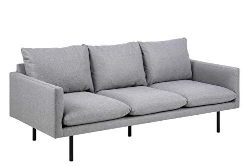 Amazon Brand - Movian Eli - Sofá de 3 plazas, 85 x 200 x 83 cm (largo x ancho x alto), gris claro