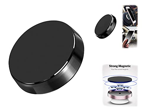 Ver-IT Mini Magnetic Mobile Holder for Car Dashboard (Metal Body) – Mobile Magnet Holder for Car – Portable Pocket Sized, Multipurpose Use in Kitchen, Dressing Table, Bathroom (Random Color)