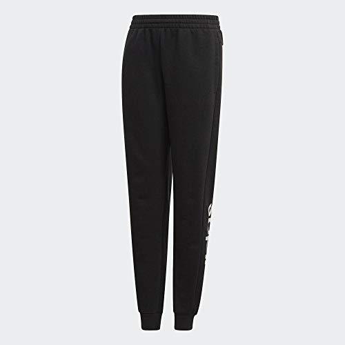 adidas Kinder Hose YG E LIN Pant, Negro/Blanco, 170, EH6159