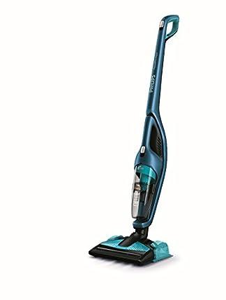 Philips PowerPro Aqua FC6405/01 Sin bolsa 0.6L Negro, Azul aspiradora de pie y escoba eléctrica - Aspiradora escoba (Sin bolsa, Negro, Azul, 0,6 L, Alfombra, Suelo duro, 83 dB, Ión de litio)