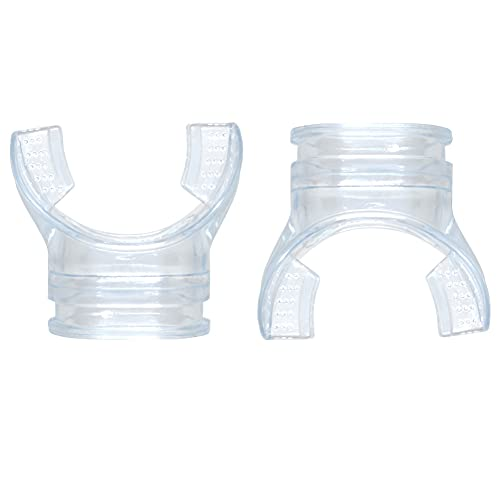 Zhioudz Boquilla de Buceo Silicona Transparente Boquilla, 2 Piezas de Boquillas Reguladoras Transparentes, Aptas para Los Snorkels Y Reguladores De Buceo MáS Comunes