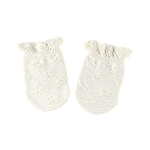 moregirl 1 par de Guantes de bebé Mitones de algodón Suave de Punto Calcetines Calientes Sox Regalos de Ducha