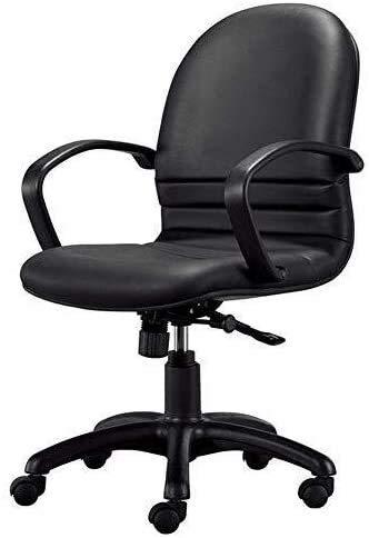DBL Ejecutivo de reclinación de cuero PU Gaming Presidente Ejecutivo Volver Medio, ajuste de la altura Ocio Oficina silla de la computadora Silla moderna Silla de oficina Negro Las sillas de escritori