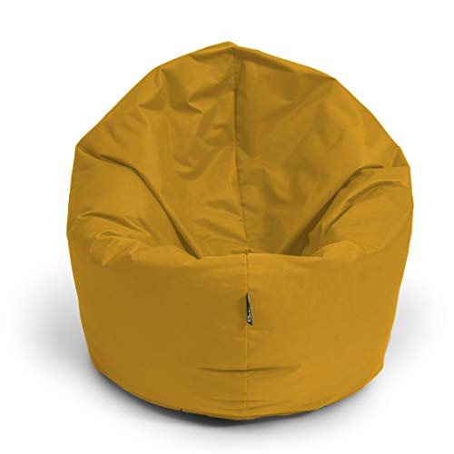 BuBiBag Sitzsack M - XXL 2-in-1 Funktionen mit Füllung Sitzkissen Bodenkissen Kissen Sessel BeanBag (100cm Durchmesser, Sand)