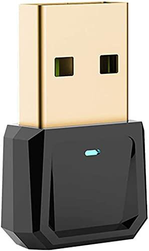 Adattatore Bluetooth per PC, USB Mini Bluetooth 5.0 Dongle per computer desktop, trasmissione wireless per laptop, cuffie Bluetooth, altoparlante, tastiera mouse e stampante Windows 10   8.1   8 7