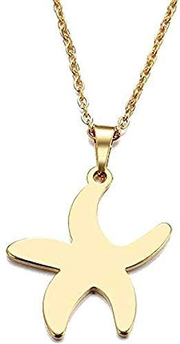 Collar para mujer Hombre Collar Collar de acero inoxidable para mujer Hombre Amante S Pequeña estrella de mar Colgante Collar Joyería de compromiso Collar Colgante Cadena para mujeres Hombres