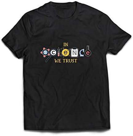 Camisetas Hombre En Ciencia Confiamos Equipo de Graduación Citas de Maestros