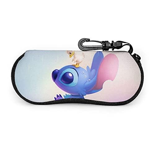 Fundas de Gafas S-t-it-c_h Duck Day gafas impermeable con mosquetón para gafas con cremallera, estuche blando para gafas de sol portátiles, clip para cinturón
