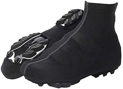 VORCOOL Ciclismo Cubre Zapatos Ciclismo Impermeable Zapatilla Cubre Zapatillas Protectoras de Invierno térmica Zapata para Deportes al Aire Libre Cubierta (Negro, L)