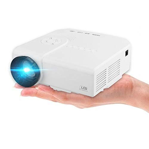 Mini Portable Projector, 1080P HD Movies Projection Home Theater, Video Projector Multimedia Support AV HDMI USB