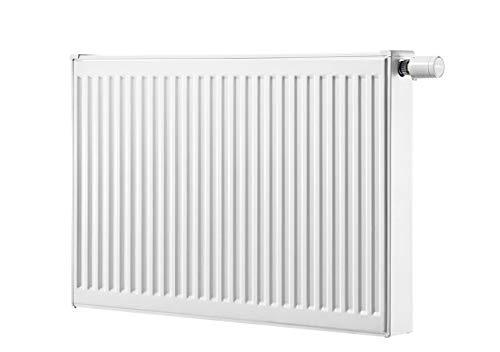 Vlakke radiator Buderus Logatrend, VC-profiel, type 21, draaibaar met wandbevestigingsset FMS, BH 900 x vers. lengtes + houder. BL: 500