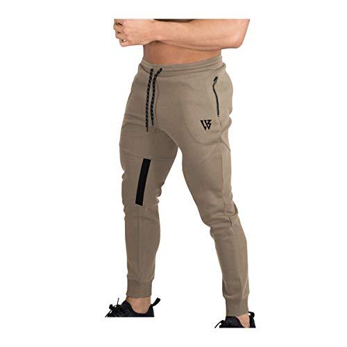 Brokig Vertex Gym Pantalones de chándal para hombre, con bolsillos, para correr...