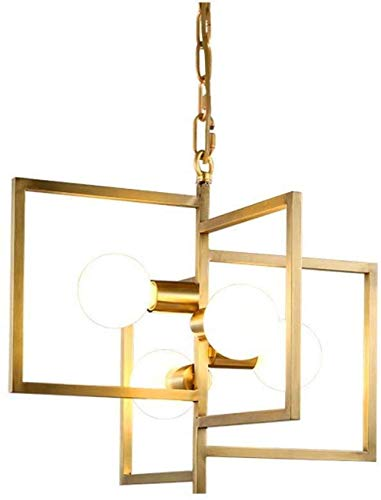Hanglamp Nordic Style Restaurant Light Bar Koper Kroonluchter Post Moderne Creatieve Persoonlijkheid Eenvoudige Moderne Eetkamer Eettafel Lamp LED*4 52 * 45cm