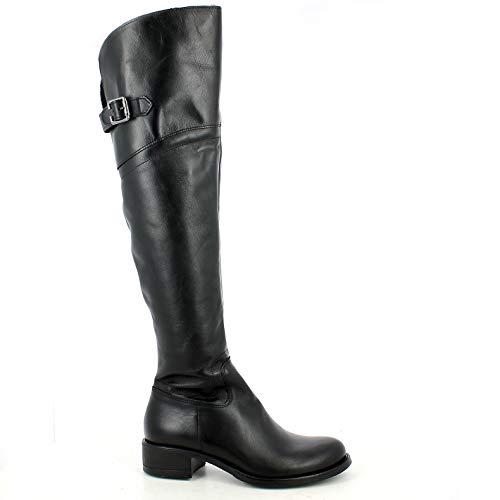 Firenze Stiefel Alto schwarz Leder, Schwarz - Schwarz - Größe: 36 EU