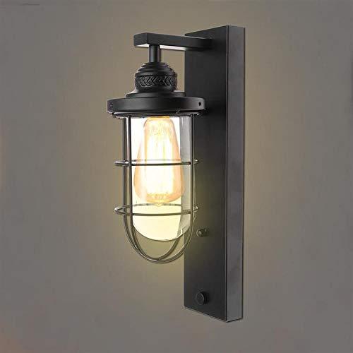 Wandlamp montuur in landelijke stijl retro smeedijzer hangende lamphouder voor hal (zwart)