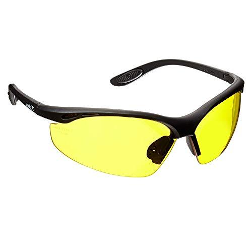 voltX 'Constructor' Lunettes de Sécurité, Safety Glasses (Jaunes) + Anti Condensation, Lentille UV400