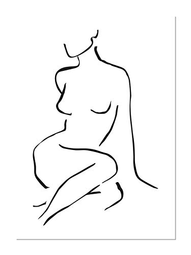 Panorama Póster Silueta Mujer Frontal 50x70cm - Impreso en Papel 250gr - Póster Pared - Láminas para Enmarcar - Cuadros Decoración Salón - Pósters Decorativos - Cuadros Modernos