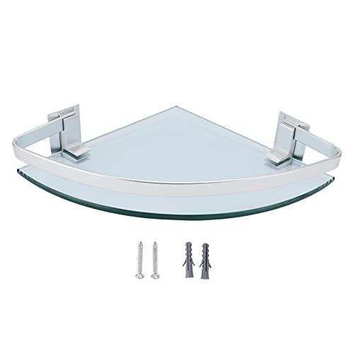 Eulbevoli Estante de Vidrio, barandillas ensanchadas Estante de Vidrio Triangular para ordenar los Espacios de Almacenamiento en baños Baños y cocinas para champú o Aceite de Oliva