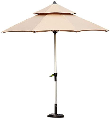 LYYJIAJU Parasolparasol Garden & Outdoors Outdoor Patio Umbrella Table Market Umbrella with Base, Portable Offset Patio Umbrella for Poolside, Deck, Garden, Backyard, Pool (Size : Khaki)