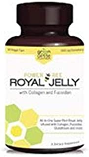 Power Bee Royal Jelly with Collagen and Fucoidan Dietary Supplement - 60 Veggie Caps