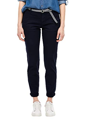 s.Oliver RED LABEL Damen Regular Fit: Chino mit Gürtel navy 40.32