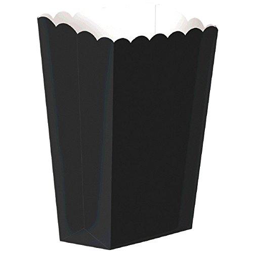 amscan Noir Large Papier Popcorn Boîtes