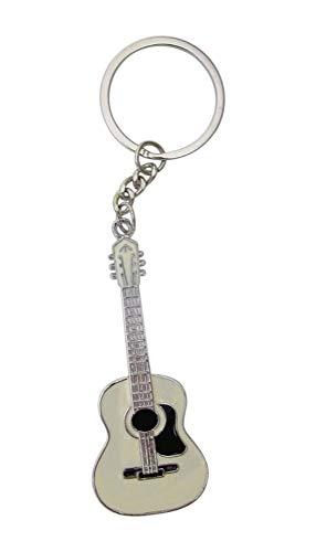 Schlüsselanhänger, Taschenschmuck, Akustikgitarre, Beige