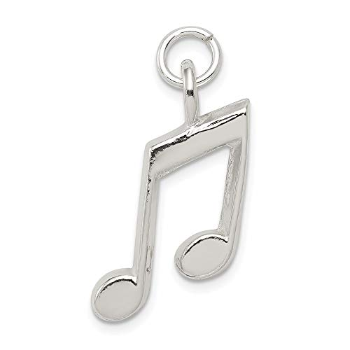 925 Sterling Silver Music Notes Pendant Charm Necklace Musical Fine Jewelry For Women Gifts For Her